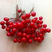 Тычинки ягоды красные 12 мм (10 ягод) (товар при заказе от 200 грн)