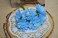 Букет хризантем (цена за букет из 6 шт). Цвет - голубой