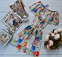 Супер модное платье-трансформер с разными вариантами носки и очень ярким принтом: семицветик