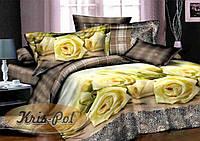 Комплект постельного белья двухспальный 180х220, (3044) Ранфорс