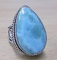 """Яркий перстень с ларимаром """"Веста"""", размер 19 от студии  LadyStyle.Biz, фото 1"""