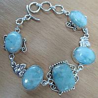 """Красивый серебряный браслет """"Виноградина""""  с натуральными  ларимарами  от студии LadyStyle.Biz, фото 1"""