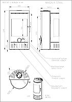 Печь-камин Mangala (металл)