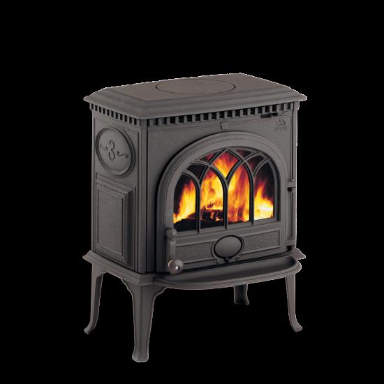 Чугунная печь камин F 3 TD BP  (черная)-7 кВт