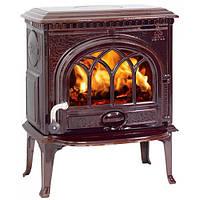 Чугунная печь камин Jotul F 3 TD BRM (эмаль бордово-коричневый) -7 кВт