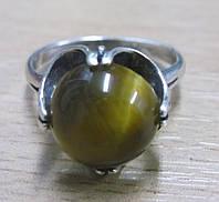 """Кольцо с тигровым глазом """"Василинка"""", размер 18 от Студии LadyStyle.Biz , фото 1"""