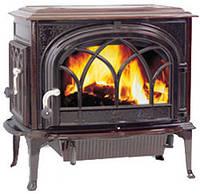Чугунная печь камин Jotul F 500 BRM (коричневая майолика)-9 кВт