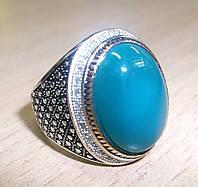 Красивый перстень с хризопразом , размер 20 от студии LadyStyle.Biz