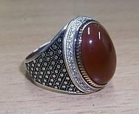 Красивый перстень с сердоликом , размер 21 от студии LadyStyle.Biz, фото 1