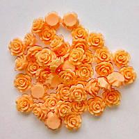 Полубусина (5 штук) Розочка Персиковая 10 мм (товар при заказе от 200 грн)