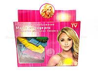 Волшебные бигуди magic leverage pro невероятно шикарная завивка 2 упаковки(бигуди-36шт,крючки-2шт) + зеркало