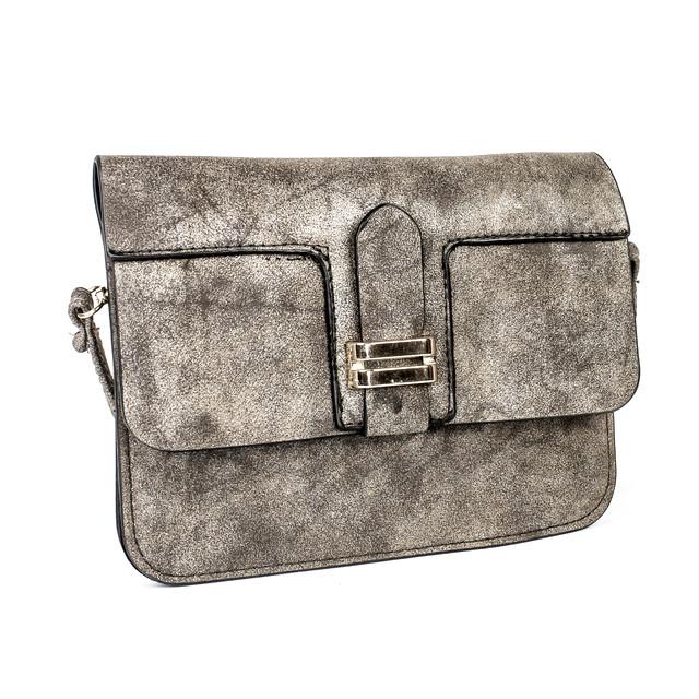 Мини сумочка из кожзаменителя коричневая
