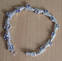 """Изящный  браслет с танзанитами """"Лиана"""" от студии LadyStyle.Biz, фото 1"""