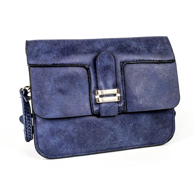 Мини сумочка из кожзаменителя синяя
