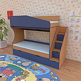 Двухъярусная кровать для детской комнаты Джунгли от производителя, фото 5