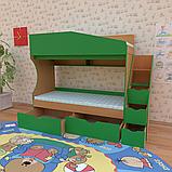 Двухъярусная кровать для детской комнаты Джунгли от производителя, фото 6