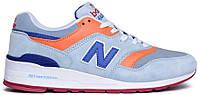 Мужские кроссовки New Balance 997 (Нью Баланс) синие/оранжевые