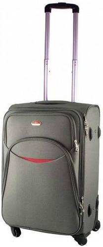 Надежный малый тканевый 4-колесный чемодан 32 л. Suitcase 013753-grey серый
