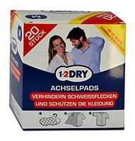 1-2DRY Achselpads Medium, weiß - Гигиенические вкладыши для подмышек, белые, 20 штук (10 пар)