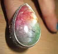 """Шикарное кольцо с цветным агатом  """"Самоцвет"""", размер 18,8 от Студии  www.LadyStyle.Biz, фото 1"""