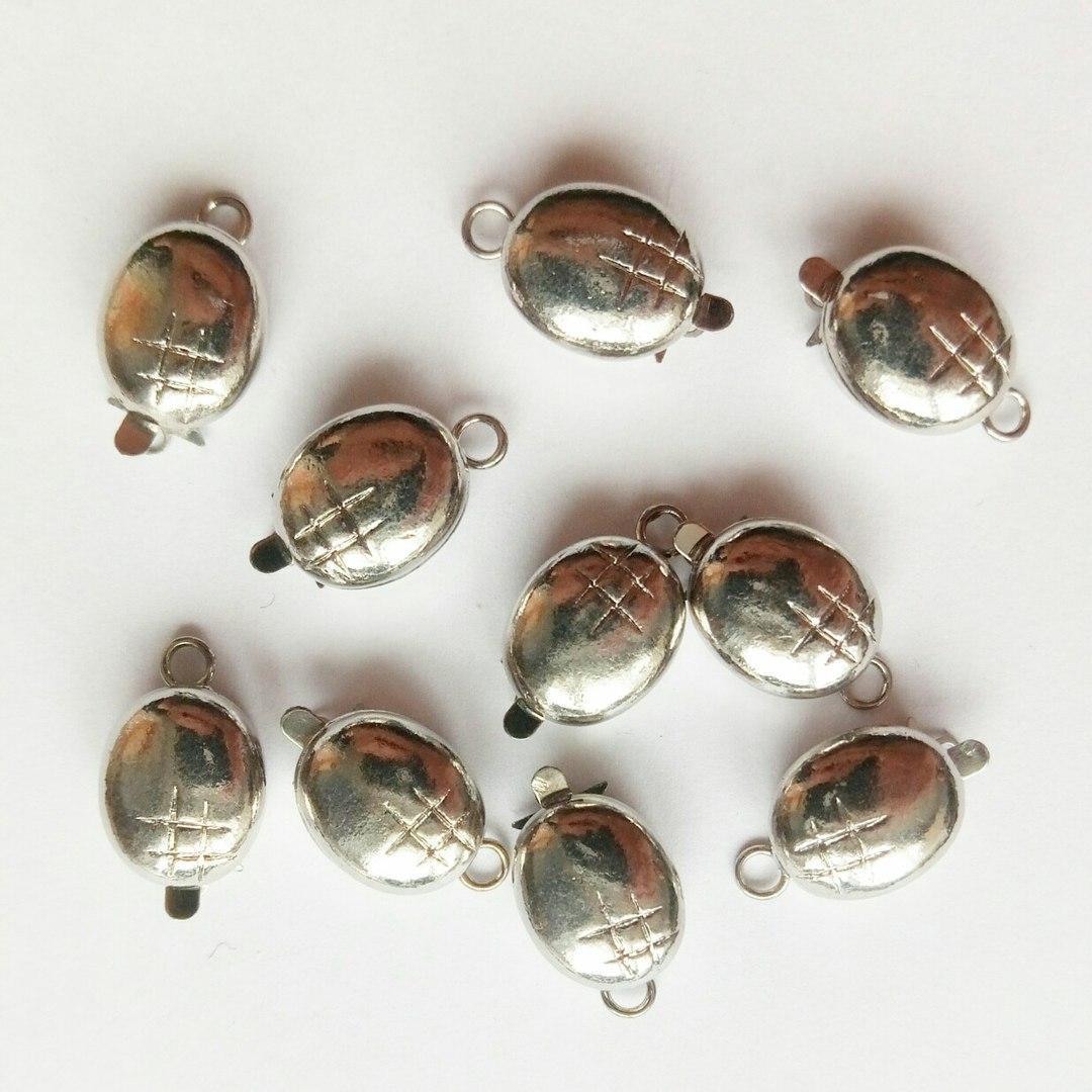 Застібка овальна срібло (17 мм)