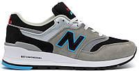 Мужские кроссовки New Balance 997 Grey (Нью Баланс) серые/черные