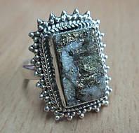 """Серебряное кольцо с пиритом  """"Золотая звезда"""", размер 19  от студии LadyStyle.Biz, фото 1"""