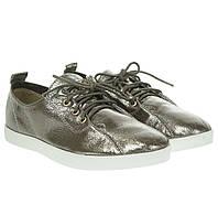 Туфли женские Gelsomino (серебристые, на шнурках, модные, удобные)