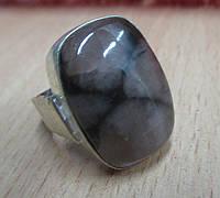 """Редкое кольцо с хиастолитом """"Кардинал"""", размер 19,2 от Студии  www.LadyStyle.Biz"""