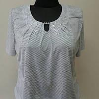 """Женская блуза из трикотажа """"Горошек молоко """""""