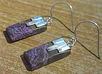 Серебряные серьги с пурпуритом    от студии LadyStyle.Biz, фото 1