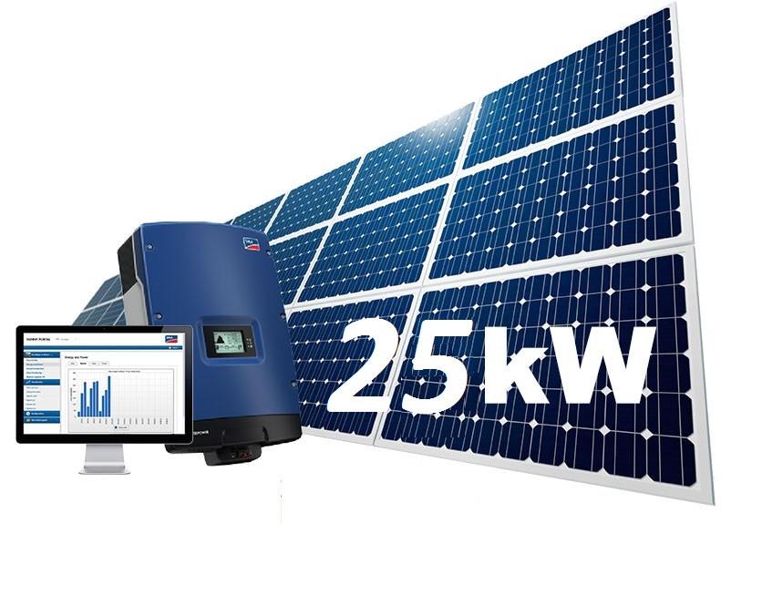 Сонячна електростанція для зеленого тарифа на 25кВт. Інвертор SMA панелі JinkoSolar