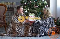 Плед с рукавами и карманом леопард, фото 1