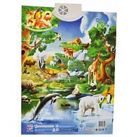 Детский интерактивный обучающий плакат Зоопарк 7030