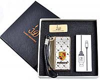 Спиральная USB зажигалка Porsche №4757, складной нож и спираль накаливания, безотказная работа спирали, модно