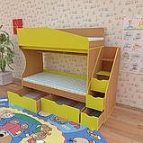 Двухъярусная кровать для детской комнаты Джунгли от производителя, фото 4