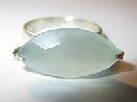 """Необычный перстень с голубым халцедоном """"Глазок"""", размер 17,8 от студии LadyStyle.Biz, фото 1"""