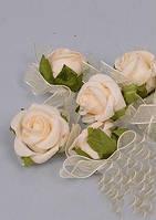 Розочки латекс 3см Цветы искусственные