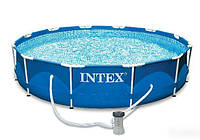 Каркасный бассейн Intex 28212 (56996) Metal Frame Pool (366x76 см) HN