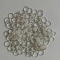 Колечки светлое серебро (8мм) (10грамм)
