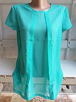 Жіноча блузка крепшифон м'ята полубатал (р. M,L,XL) купити оптом
