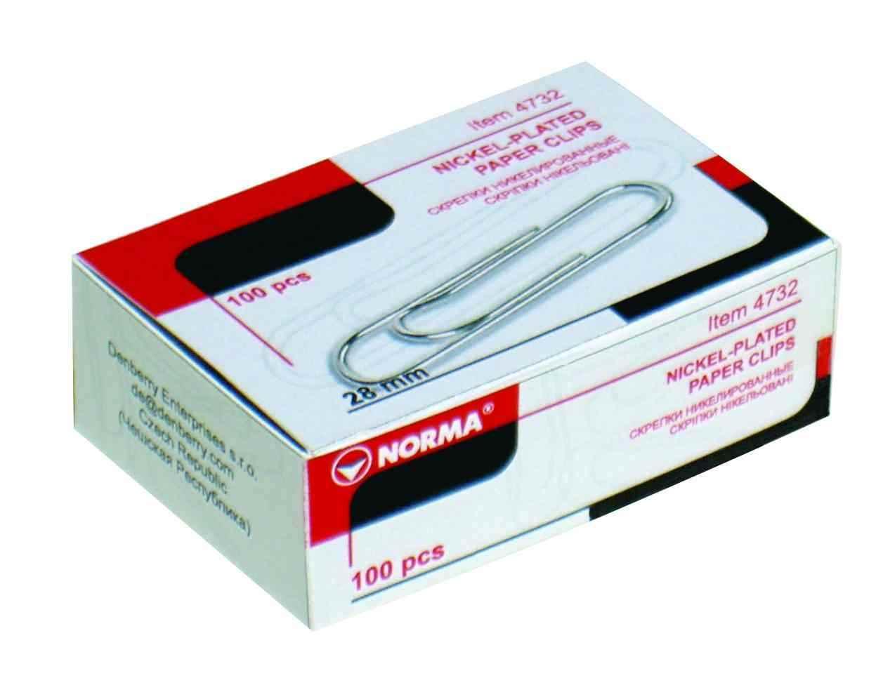 Скріпки Norma, 25 мм 100 штук, трикутні