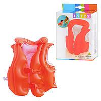 """Надувной жилет для обучения плаванию """"Deluxe Swim Vest"""" intex 58671 HN"""