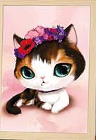 "Картина  ""Кошечка с цветами"" от студии LadyStyle.Biz, фото 1"