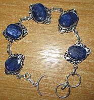 """Симпатичный браслет """"Индиго"""" с  яркими  сапфирами от студии LadyStyle.Biz, фото 1"""