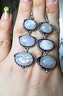 """Серьги  с натуральным лунным камнем """"Лувр""""от студии LadyStyle.Biz, фото 1"""