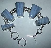 Красивый браслет с натуральным агатом - сапфирином  от студии  LadyStyle.Biz, фото 1
