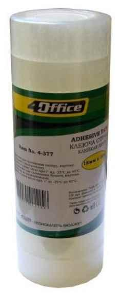 Канцелярська клейка стрічка 4Office, 4-389, 12 мм * 20 м