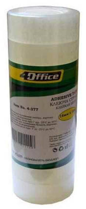 Канцелярська клейка стрічка 4Office, 4-389, 12 мм * 20 м, фото 2