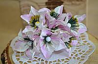 Букет сон трава (цена за букет из 6 шт). Цвет - белый, нежно розовый